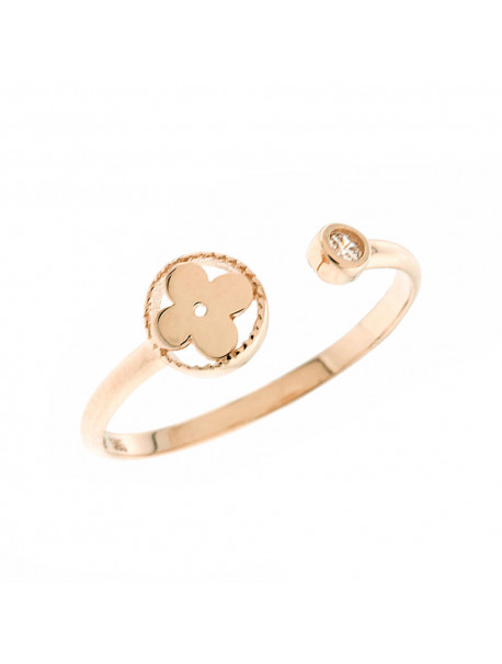 Δαχτυλίδι Ροζ Χρυσό Με Ζιργκόν 5mak.1848rr