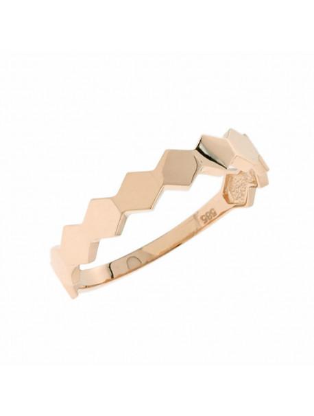 Δαχτυλίδι Ροζ Χρυσό 14 Καράτια 5mak.2300rr