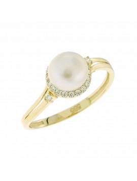 Δαχτυλίδι Χρυσό 14 Καράτια Με Μαργαριτάρι Και Ζιργκόν 5sti.17r 169f8d00b2d