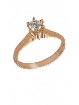 Δαχτυλίδι Ροζ Χρυσό Με Λευκό Ζιργκόν Swarovski D005