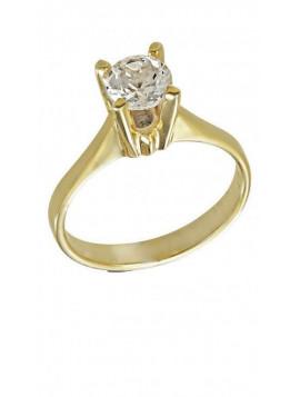 Δαχτυλίδι Χρυσό Με Λευκό Ζιργκόν Swarovski D010