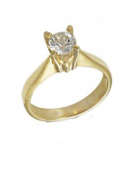 Δαχτυλίδι Χρυσό Με Λευκό Ζιργκόν Swarovski D009