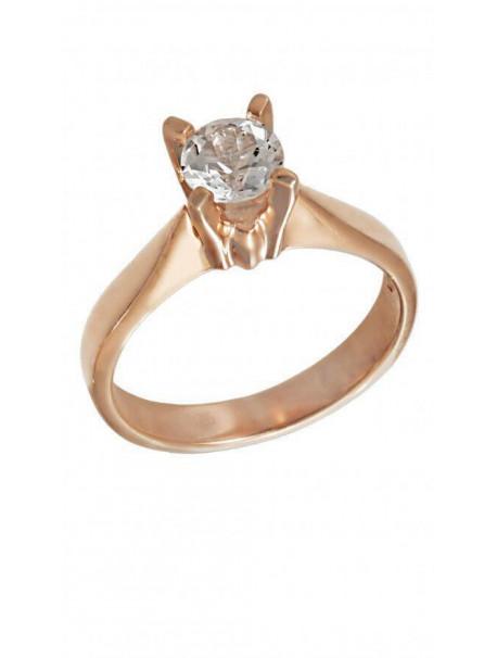 Δαχτυλίδι Ροζ Χρυσό Με Λευκό Ζιργκόν Swarovski D004