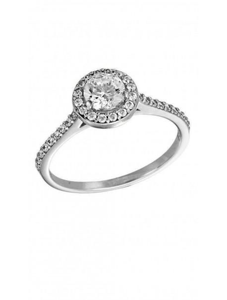 Δαχτυλίδι Λευκόχρυσό Με Λευκά Ζιργκόν Swarovski D002