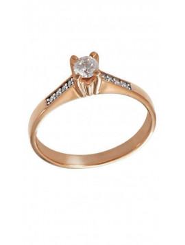 Δαχτυλίδι Ροζ Χρυσό Με Λευκά Ζιργκόν Swarovski D001