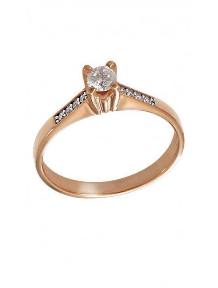 Δαχτυλίδι Ροζ Χρυσό Με Λευκά Ζιργκόν Swarovski D001 a5b41e650b7