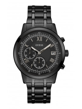 GUESS Black Stainless Steel Chronograph W1001G3