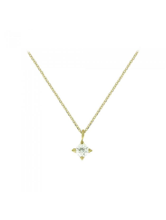 Κολιέ Χρυσό Κ14 Με Πέτρα Ζιργκόν oro180 abdbbaa7830