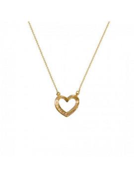 Κολιέ Καρδία Χρυσό 14 Καράτια ΖΗ8154