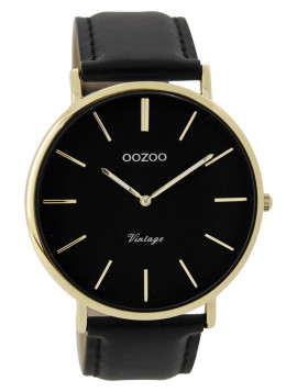 OOZOO Vintage Black Leather Strap C9301
