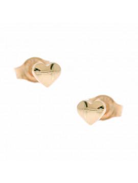 Σκουλαρίκια Ροζ Χρυσό Καρδιά Ortaxidis 3ΣΟΥ.317ΡΣΚ