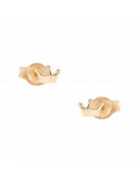 Σκουλαρίκια Ροζ Χρυσό Κορώνα Ortaxidis 3ΣΟΥ.321ΡΣΚ