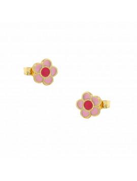 Σκουλαρίκια Παιδικά Χρυσά 3str.1604or