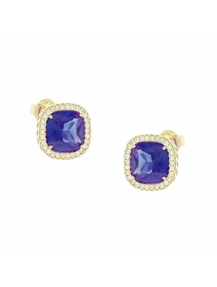 Σκουλαρίκια Χρυσά 14 Καράτια Με Μπλε Πέτρα 5fm.791or 18da12a7e82