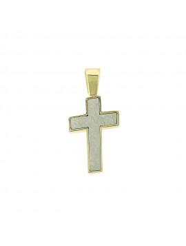 Σταυρός Ανδρικός Δίχρωμος Χρυσό-Λευκόχρυσο 14 καράτια 5ΛΟΥ.551ΔΣΤ
