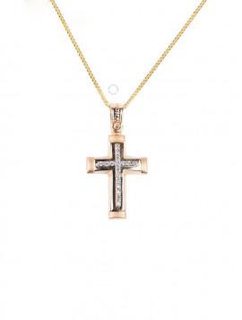 Σταυρός Χρυσός Με Ζιργκόν oro267