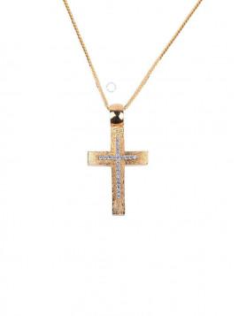 Σταυρός Χρυσός Με Ζιργκόν oro273