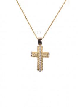 Σταυρός Χρυσός Με Ζιργκόν oro288