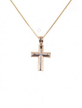 Σταυρός Χρυσός Με Ζιργκόν oro290