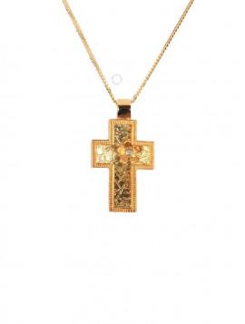 Σταυρός Χειροποίητος Χρυσός Με Ζιργκόν oro293