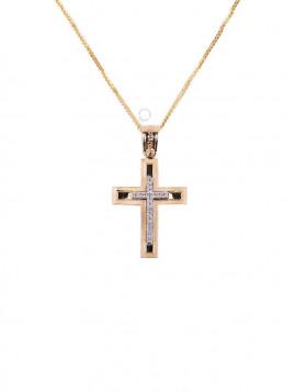 Σταυρός Χρυσός Με Ζιργκόν oro297