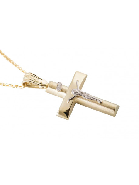 Σταυρός Triantos Χρυσός 14 Καράτια oro366