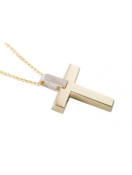 Σταυρός Triantos Χρυσός 14 Καράτια oro364