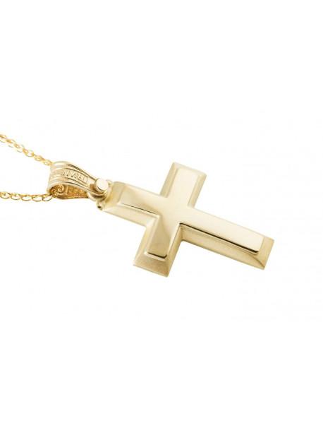 Σταυρός Triantos Χρυσός 14 Καράτια oro370