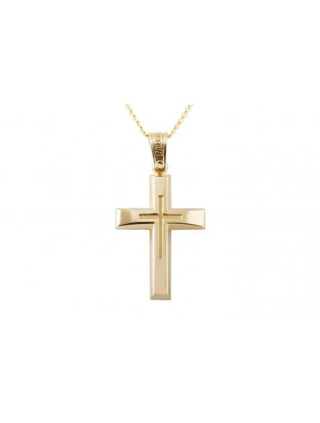 Σταυρός Triantos Χρυσός 14 Καράτια oro368