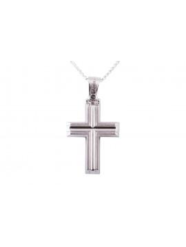 Σταυρός Triantos Λευκόχρυσος 14 καράτια oro374