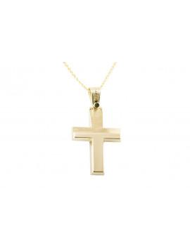Σταυρός Triantos Χρυσός 14 καράτια oro365