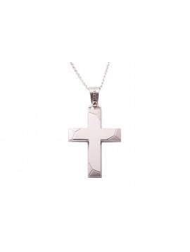 Σταυρός Triantos Λευκόχρυσός 14 Καράτια oro351