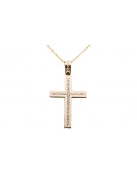 Σταυρός Triantos Χρυσός 14 Καράτια oro356