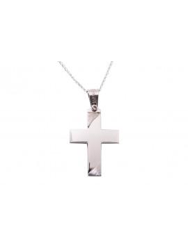 Σταυρός Triantos Λευκόχρυσος 14 Καρατίων oro352