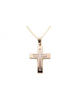 Σταυρός Ανδρικός Χρυσός 14 Καράτια oro312