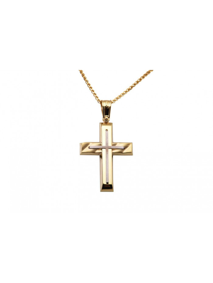 784f2e0163a Σταυρός Ανδρικός Χρυσός 14 Καράτια oro324