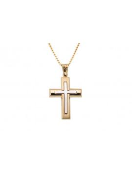 Σταυρός Ανδρικός Χρυσός 14 Καράτια oro313