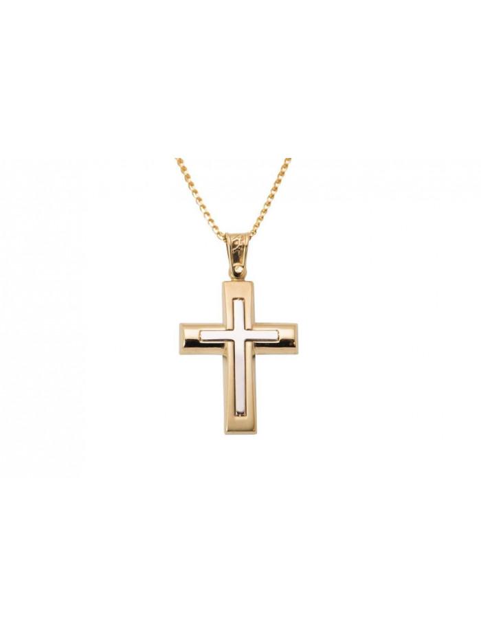 257f03d894d Σταυρός Ανδρικός Χρυσός 14 Καράτια oro313