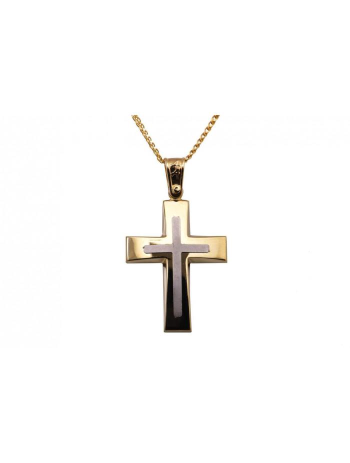 b12dc1f0f1d Σταυρός Ανδρικός Χρυσός 14 Καράτια oro347