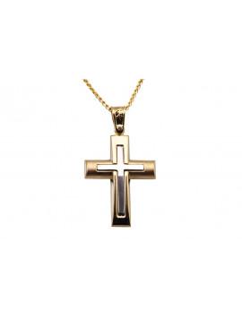 Σταυρός Ανδρικός Χρυσός 14 Καράτια oro348