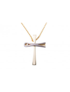 Σταυρός Χρυσός 14 Καράτια Με Ζιργκόν oro357