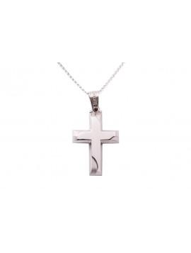 Σταυρός Triantos Λευκόχρυσος 14 Καράτια oro349