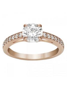 Swarovski Attract Δαχτυλίδι Ροζ χρυσό Επιπλατινωμένο Με λευκές Πέτρες 5149218