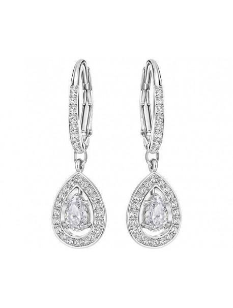 Swarovski Attract Light Pear Pierced Σκουλαρίκια Επιπλατινωμένα Με Λευκές Πέτρες 5197458