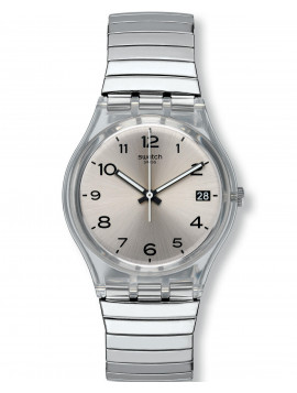 SWATCH Metallix Silverall Silver Stainless Steel Bracelet GM416A