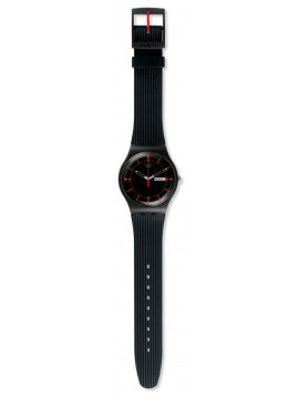 SWATCH Gaet Black Rubber Strap SUOB714