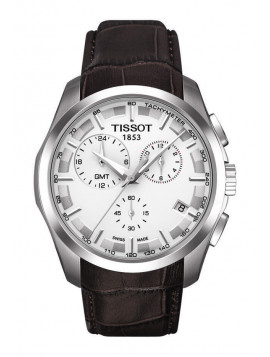 Tissot T-Classic Couturier Chronograph Brown Leather Strap T0354391603100