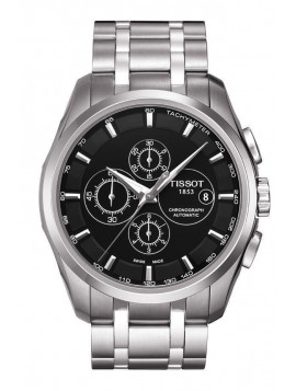 Tissot Mens Automatic Couturier Chronograph Stainless Steel Bracelet T0356271105100