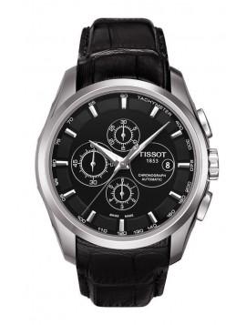 Tissot Men's T-Trend Couturier Automatic Black Leather Chronograph