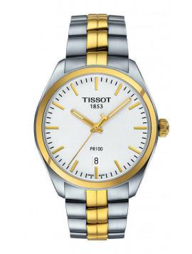 Tissot Mens T-Classic PR 100 Quartz Two-tone Watch T1014102203100